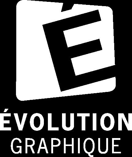 Logo de évolution graphique